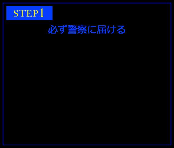 STEP1 必ず警察に届ける